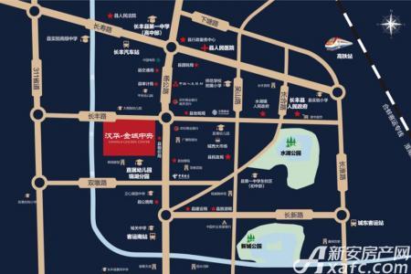 汉华金域中央交通图