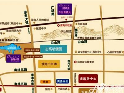 香颂小镇交通图