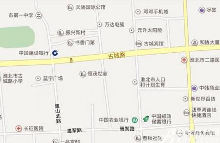 恒茂世家交通图