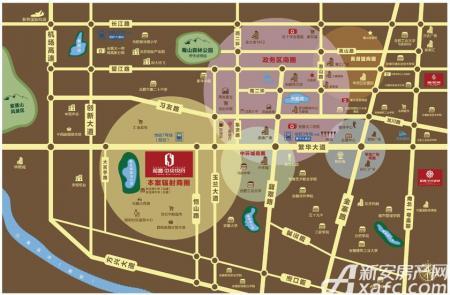 和昌中央悦府交通图