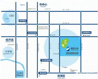 联东U谷合肥包河国际企业港交通图