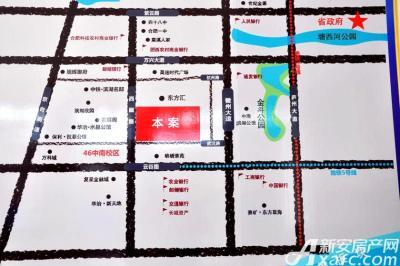 众悦广场交通区位图