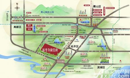 新华九龙首府交通图