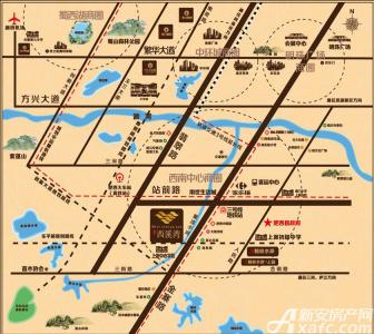 文一西溪湾交通图