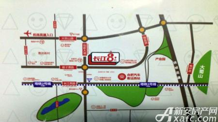 长江8号交通图