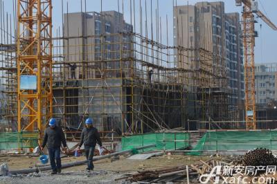 大地凤凰城2016年11月项目正在打地基中