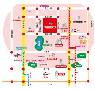 陶冲湖城市广场交通图