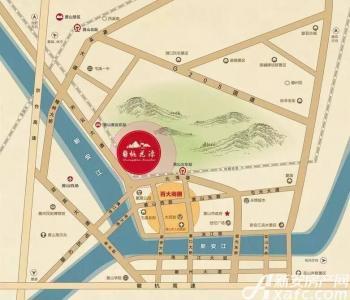 黄山桃花源交通图