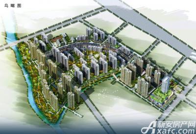 庐江中心城鸟瞰图