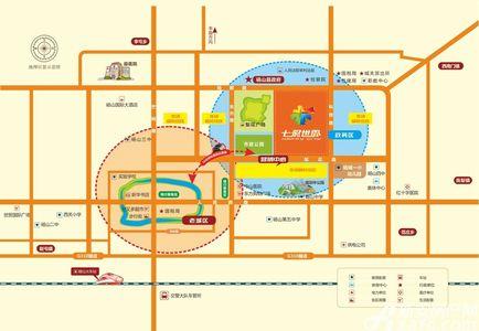 砀山奥园广场交通图