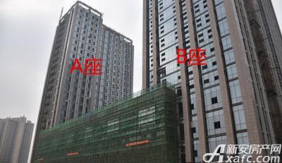 滨湖向上城A座B座正在装饰外墙(2016.12.29)