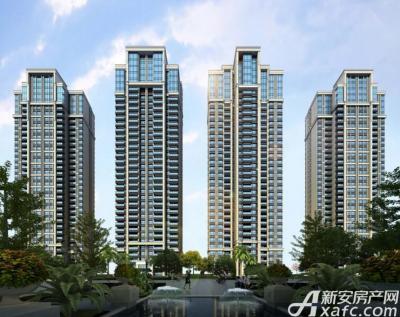 高速·海德公馆高层住宅透视图