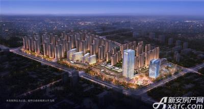 智慧锦城夜景俯瞰图