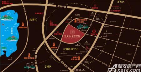 金大地紫金公馆交通图