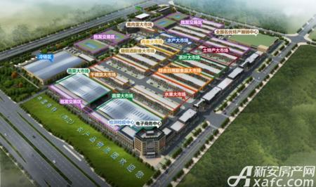 庐江农产品物流园效果图
