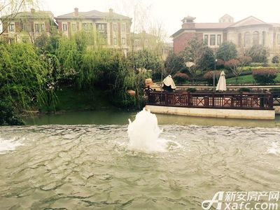 保利西山林语小区喷泉实景图(2017.3.20)