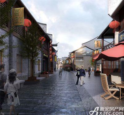 庐江中心城岗湾老街街景透视