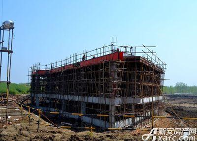 高速·海德公馆1#和8#中间商业项目进度(2017.4)