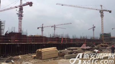 恒大滨江左岸2017.5.17 恒大项目主体在建