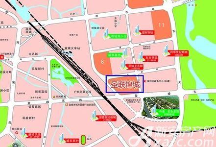圣联锦城交通图