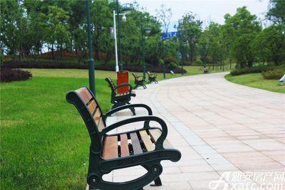 滨江壹号院整排的座椅