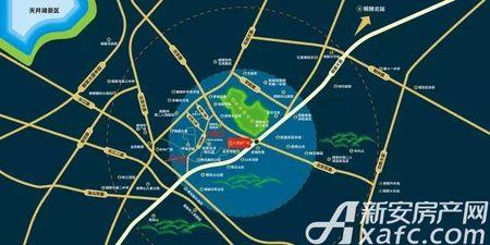 富安德森广场交通图