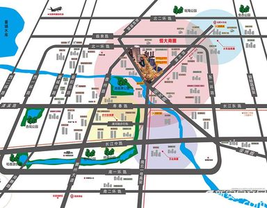 恒大中央广场KingSoho交通图