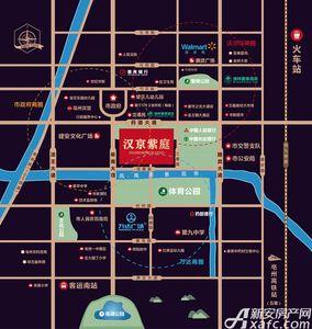 汉京紫庭交通图