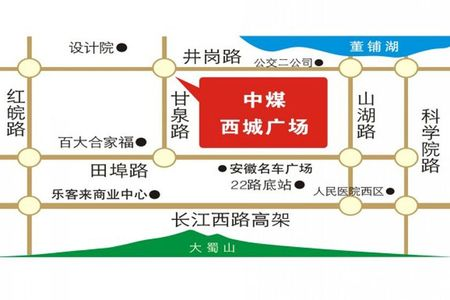 中煤西城广场交通图