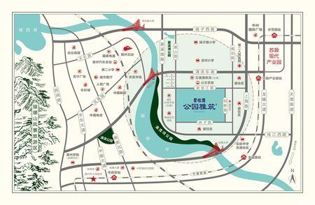 碧桂园公园雅筑交通图