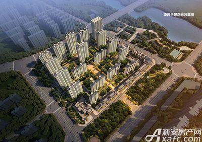 古井悦湖城项目日景鸟瞰效果图
