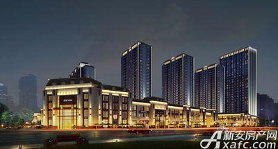 古井悦湖城沿花戏楼路商业夜景透视效果图