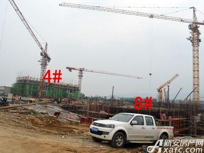 宜秀蓝湾4#、8#工程进度(2017.6.14)