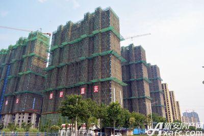 万成·哈佛玫瑰园沿通济五路楼栋工程进度(2017.6)