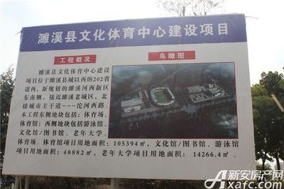融翔·君悦澜山濉溪县文化体育中心建设鸟瞰图