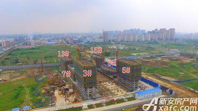 皖新翡翠庄园在建楼栋工程进度(2017.6.21)