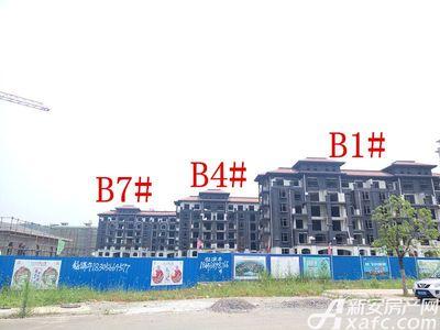 地矿龙山湖苑B1#、B4#、B7#项目进度(2017.6.27)