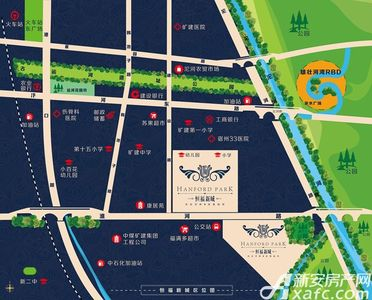 恒福新城交通图