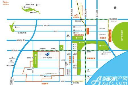 合肥云谷金融城交通图