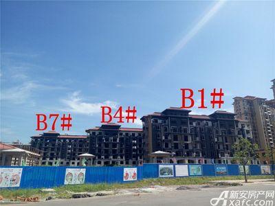 地矿龙山湖苑B1#、B4#、B7#项目进度(2017.7.20)