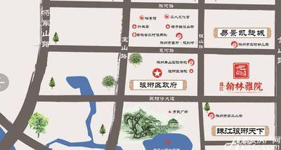 珠江翰林雅院区位图