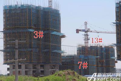 皖新翡翠庄园在建楼栋进度(2017.7.27)