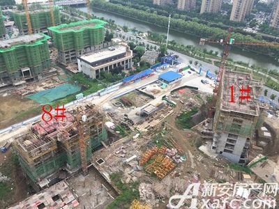 荣盛西湖观邸1#、8#工程进度(2017-7)