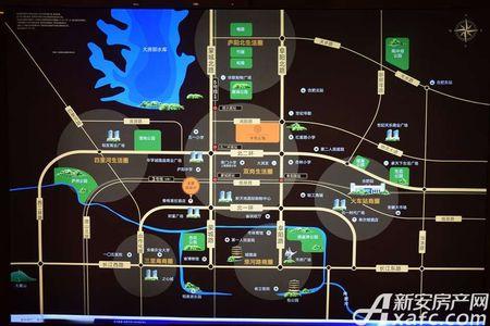 蓝光半岛公馆交通图