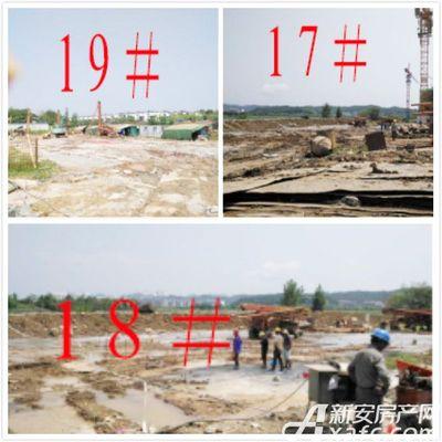 恒大滨江左岸8月施工进度(2017.8.8)压密注浆施工,地基处理