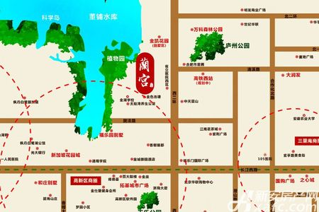 拓基蘭宫墅交通图