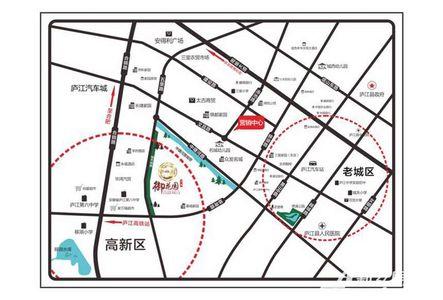 名城御花园交通图