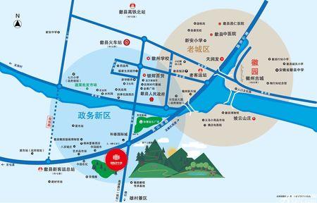 歙县国际汽车城交通图