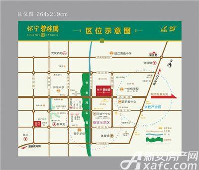 怀宁碧桂园区位图