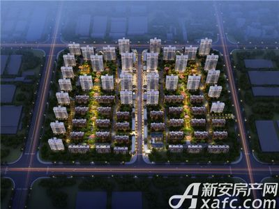 北京城建国誉锦城鸟瞰夜景